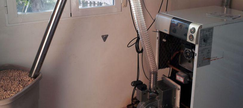 Calderas de biomasa domésticas