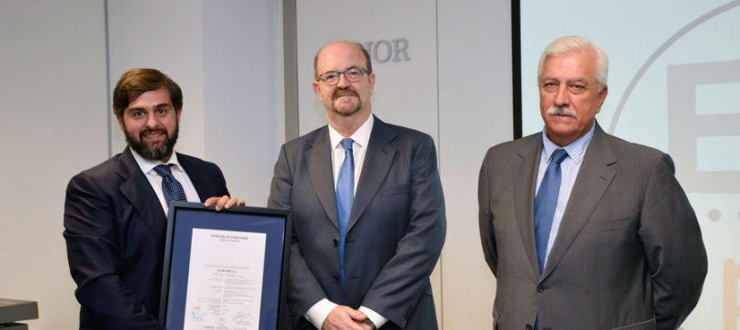 Calor Erbi recibe oficialmente el certificado de Calidad ENplus A1 como distribuidor de biomasa