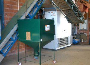 Caldera biomasa en secaderos de lúpulo