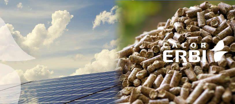 Combinación de biomasa y energía solar